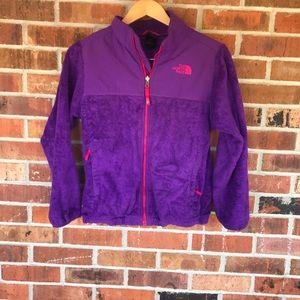 North Face girls 14/16 fleece jacket! Purple! Used